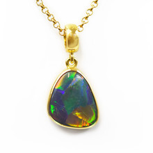 Lost Sea Opal Dark Opal Pendant