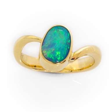 Lost Sea Opals - Riding the Current - Black Opal Ring