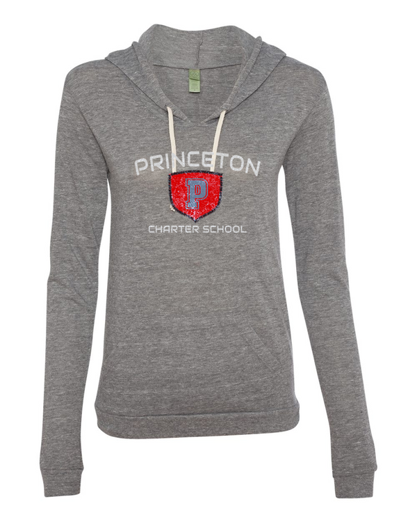 PCS Alternative - Women's Eco-Jersey Classic Hooded Pullover T-Shirt in grey