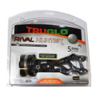 TruGlo Archery Rival Hunter 5 Pin .019 Fiber Sight Light Black TG5625B