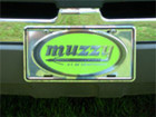 Muzzy License Plate Green Logo