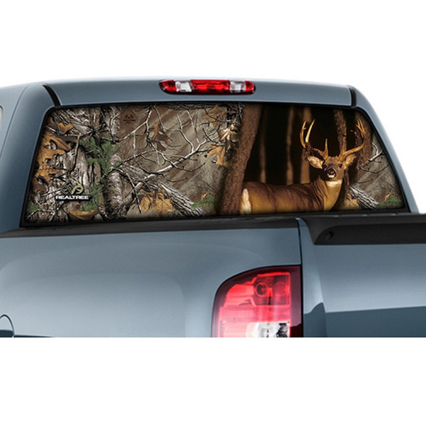 """CamoWraps 20"""" x 66"""" - Window Film Graphics Whitetail with Realtree Xtra"""