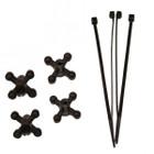 Bowjax Ultrajax I String Dampeners Bow Silencers (4pk) Black