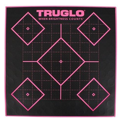 TruGlo Tru-See 5 Diamond Firearm Target 12x12 6 Pack Pink