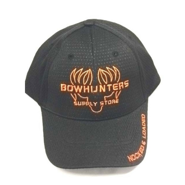 Bowhunters Supply Store Cap Orange/Black Mesh