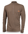 First Lite Chama QZ - Midweight - 1/4 Zip Long Sleeve - Dry Earth MEDIUM