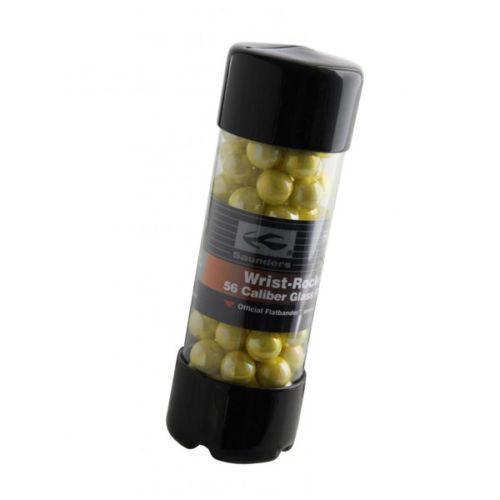 Saunders 56 Caliber Wrist Rocket Glass Ammo Yellow (100pk)