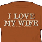 BoneHead Outfitters I Love My Wife T-Shirt SMALL