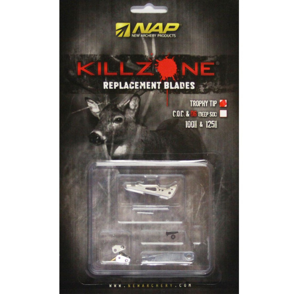 NAP KILLZONE 100 Grain 2 in. TROPHY TIP REPLACEMENT BLADES (6 PACK)