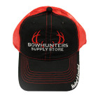 Bowhunters Supply Store Black/Red Mesh Hat