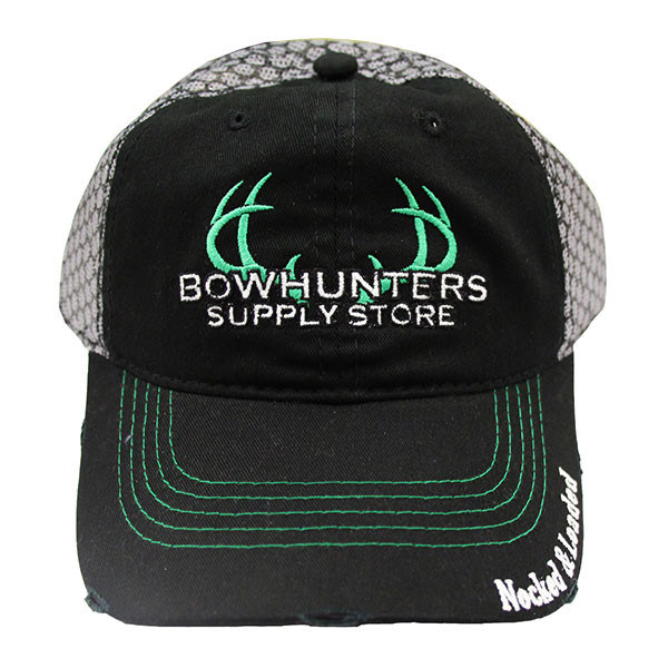 Bowhunters Supply Store Black/Grey Mesh Hat