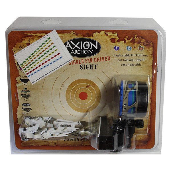 AXION SHIFT SINGLE PIN DRIVER SIGHT .019 - LOST OPEN TERRAIN