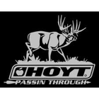 Hoyt Archery Passing Through Vinyl Window Decal 9x11 #013615