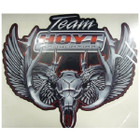 "Hoyt Chrome Skull Decal 9"" X 9"" #047960"