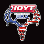"Hoyt Archery Flag Skull Vinyl Decal 9"" x 9"" #772833"