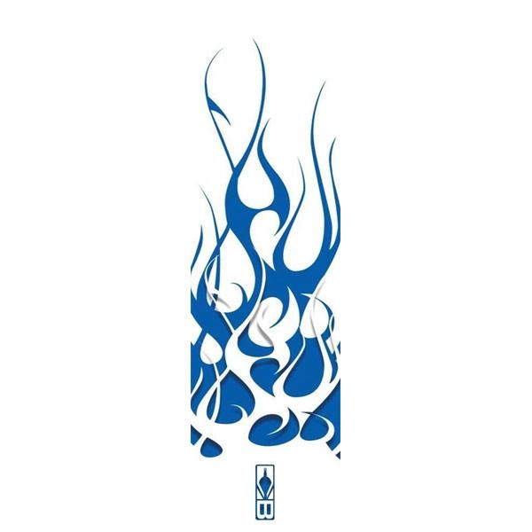 Bohning Blue/White Flame HD Arrow Wrap 12pk Standard