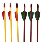 "PSE 26"" Wood Arrows w/ 2"" feathers traditional archery arrows (3 pk)"