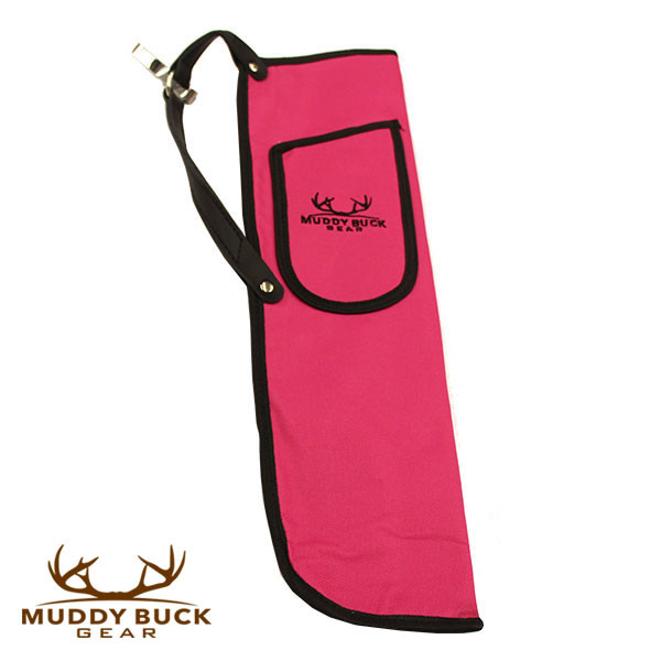 Muddy Buck Gear Codura Side Quiver w/ Belt Clip Hot Pink