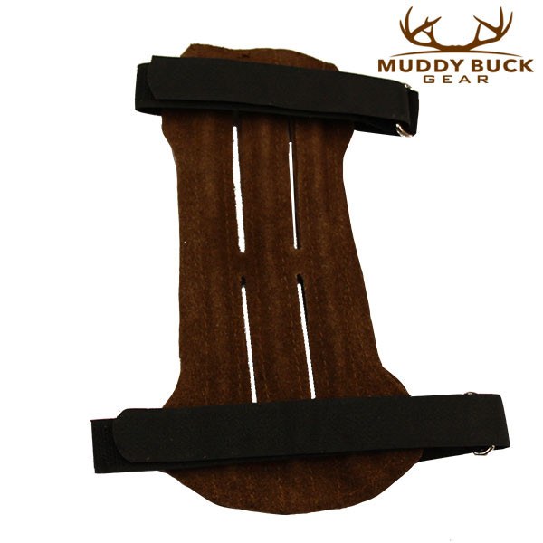 Muddy Buck Gear 2 Strap Brown Leather Vented Arm Guard