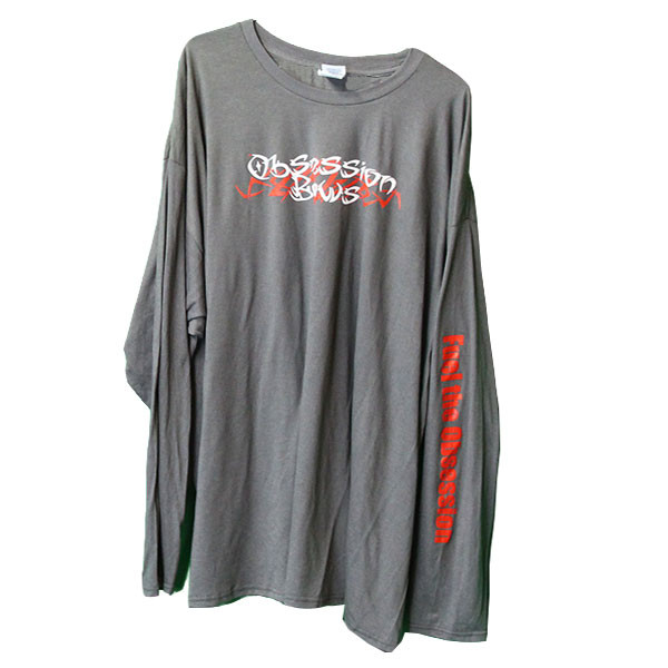 Obsession Charcoal Long Sleeve T-Shirt 2XL