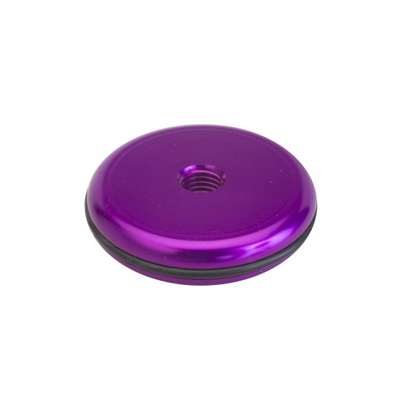 Shrewd 1 oz Aluminum Anodized End Weight-Round-Purple