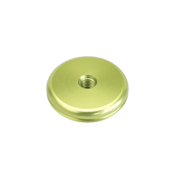 Shrewd 1 oz Aluminum Anodized End Weight-Round-Lime Green