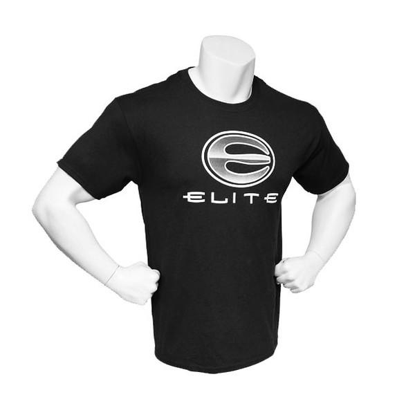 Elite Men's Tagless Logo Short Sleeve Tee - Black - Large