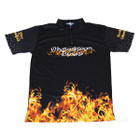 Obsession Flame Jersey - Black  XL
