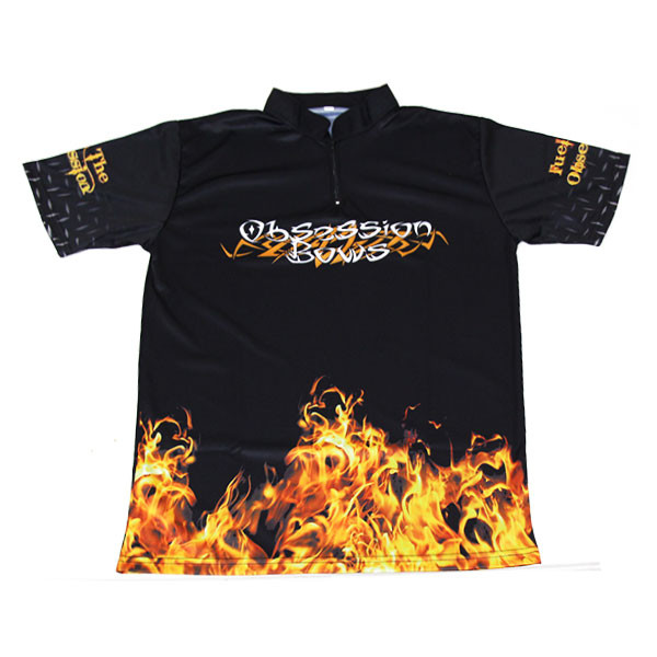 Obsession Flame Jersey - Black - Medium