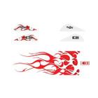 Bohning True Color Blazer Vane / Wrap Combo, Red & White Flame - 101040RWF