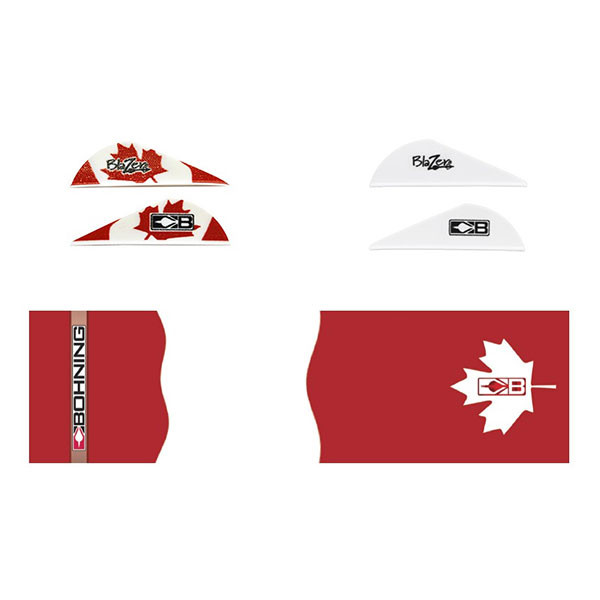 Bohning True Color Blazer Vane / Wrap Combo Canadian Flag - 101040CANF