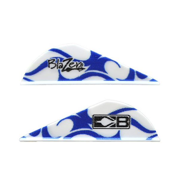 Bohning Blue & White Flame Blazer Vane 36pk