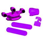 PSE 2016 Color Rubber Set with SHOCK MODZ Purple - 01290PR