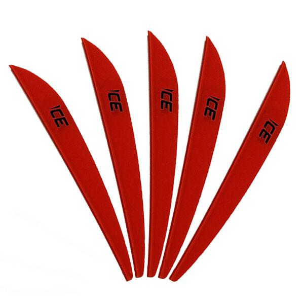 Bohning 3in Ice Vane Neon Red - 50 Pack