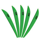 Bohning 3in Ice Vane Neon Green - 100 Pack