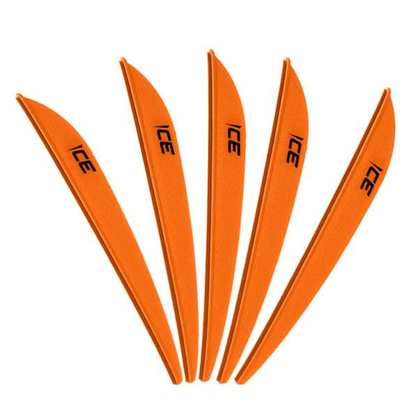 Bohning 3in Ice Vane Neon Orange - 36 Pack