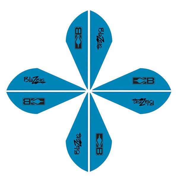 Bohning Blazer Vanes 2in. Satin Blue 50 Pack