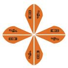 Bohning Blazer Vanes 2in. Neon Orange 12 Pack