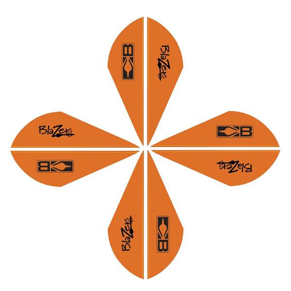 Bohning Blazer Vanes 2in. Neon Orange 50 Pack
