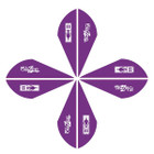 Bohning Blazer Vanes 2in. Purple 12 Pack