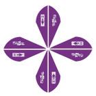 Bohning Blazer Vanes 2in. Purple 12 Pack