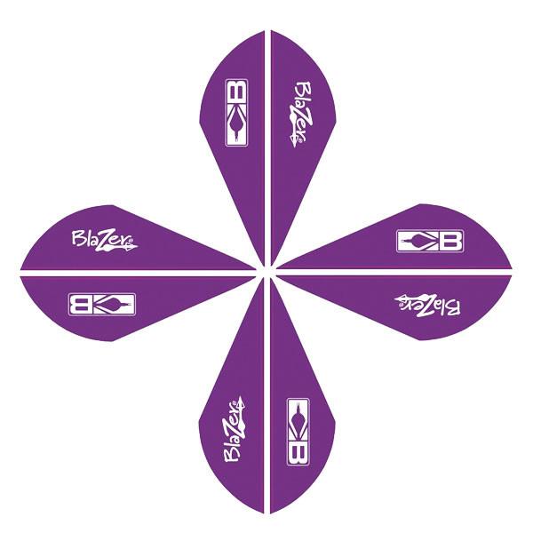Bohning Blazer Vanes 2in. Purple 50 Pack