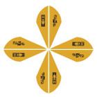 Bohning Blazer Vanes 2in. Satin Gold 100 Pack
