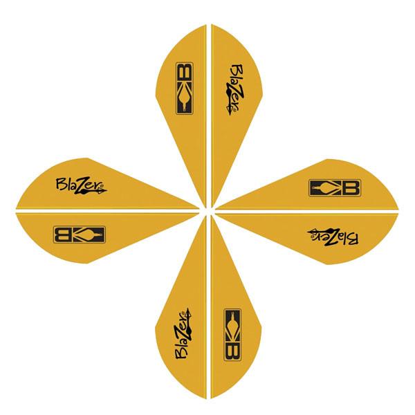 Bohning Blazer Vanes 2in. Satin Gold 12 Pack