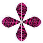 Bohning Blazer Tiger Vanes Pink 12 Pack