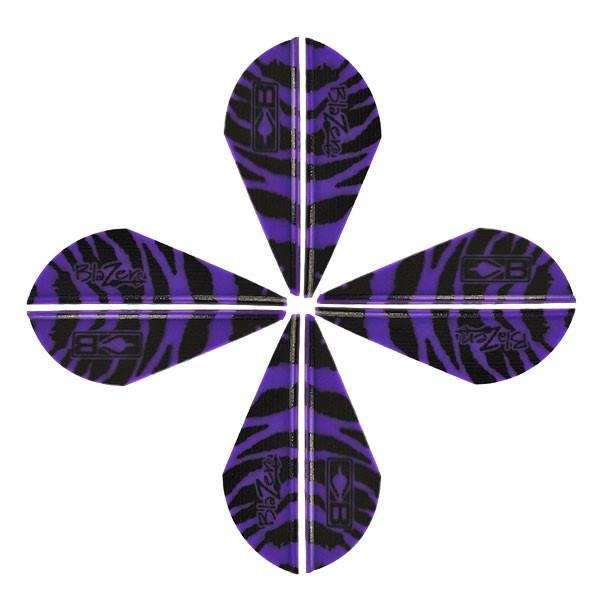 Bohning Blazer Tiger Vanes Purple 12 Pack