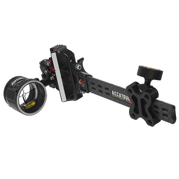 Axcel AccuTouch Carbon Pro Slider Sight w/AV-41 Scope - Single Pin - .010 w/Yellow Fiber