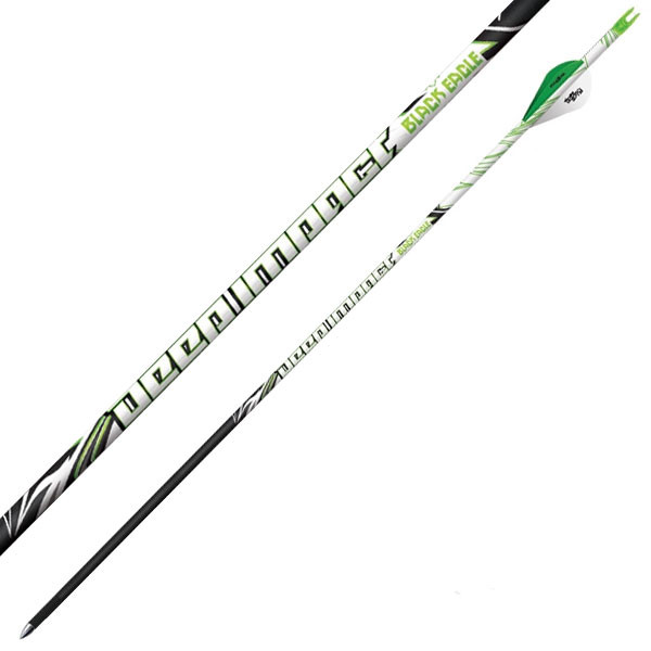 "Black Eagle Deep Impact Crested Fletched Arrows - .001"" 6 Pack - 350"
