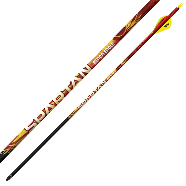 "Black Eagle Spartan Fletched Arrows - .001"" 6 Pack - 300"