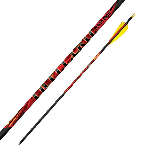 """Black Eagle Outlaw Feather Fletched Arrows - .005"""" 6 Pack - 350"""